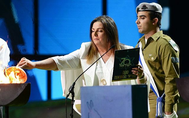 "In 2018, Technion's Prof. Marcelle Machluf was selected to light a torch at Israel's 70th Independence Day Celebration, as being behind ""one of the sixty most promising technologies ever developed"" in Israel (Muki Schwartz)"