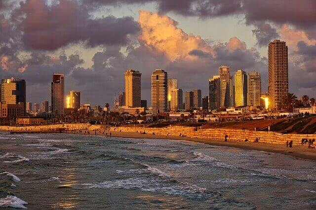 Beautiful view of Tel Aviv in Israel.