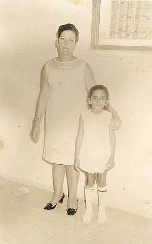 Prof. Marcelle Machluf, right, with her mother Alice Abitbole (Courtesy)