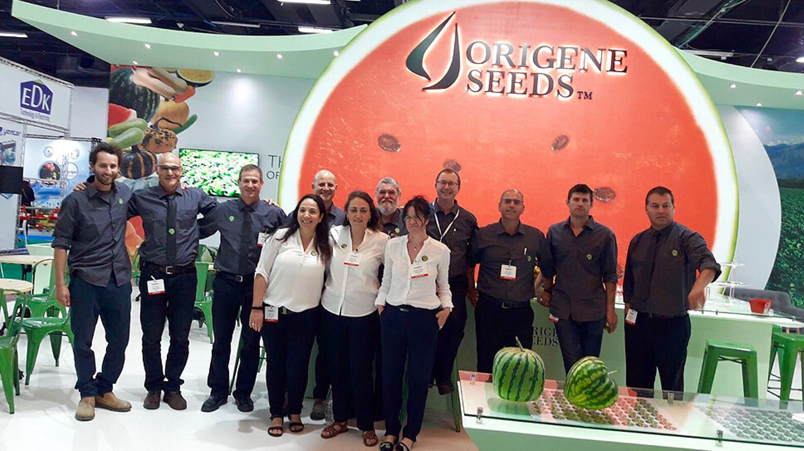 Origene's booth at Agritech, May 2018, Tel Aviv. Photo: courtesy