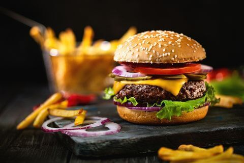 An old-school cheeseburger. DA-KUKGETTY IMAGES