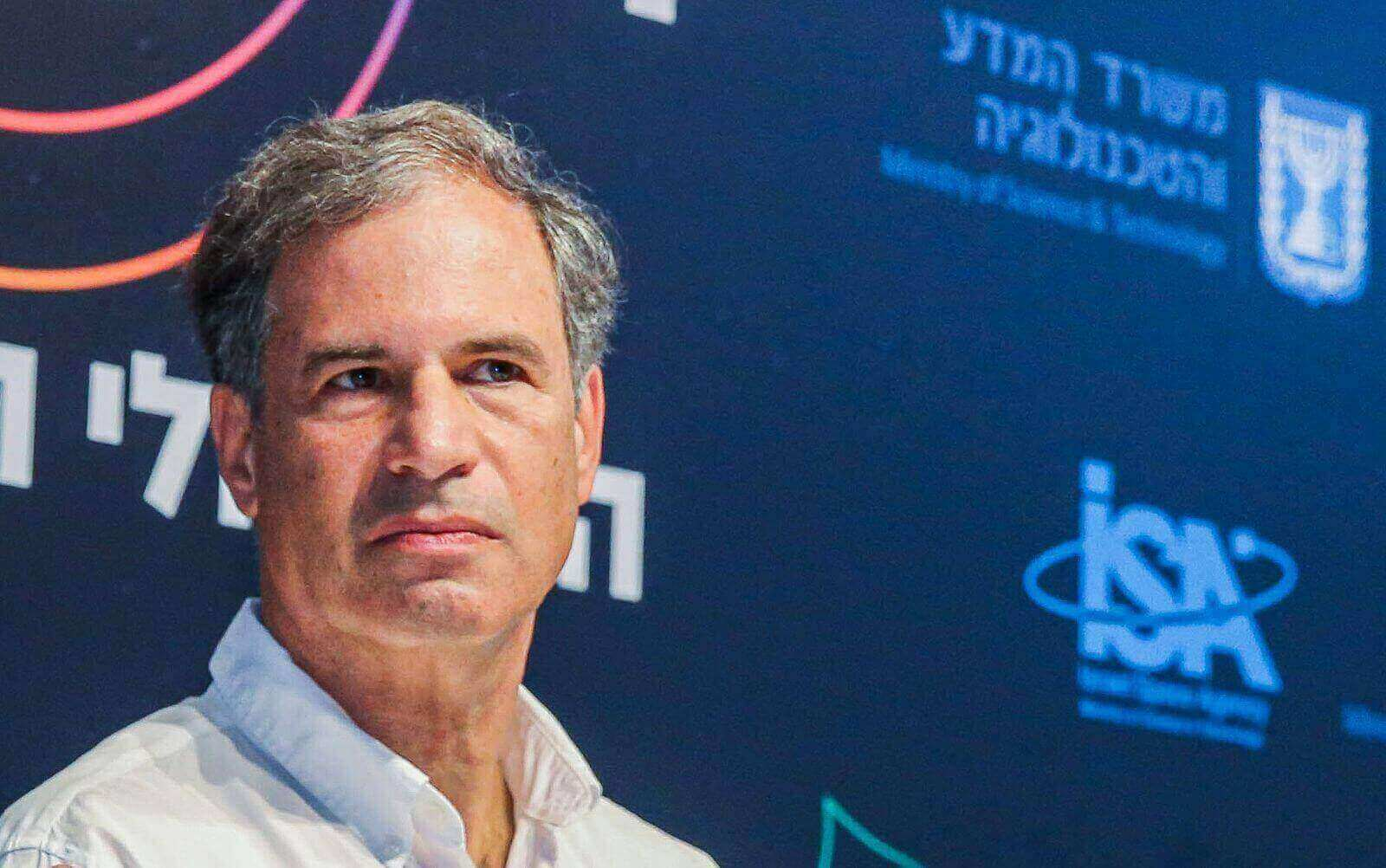 Eytan Stibbe is the second Israeli astronaut to launch into space. Seen here at a press conference in Tel Aviv on May 5, 2021. (Flash90)