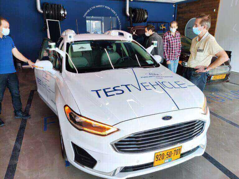 Ford autonomous vehicle. Photo by Ruslan Berdichevsky.