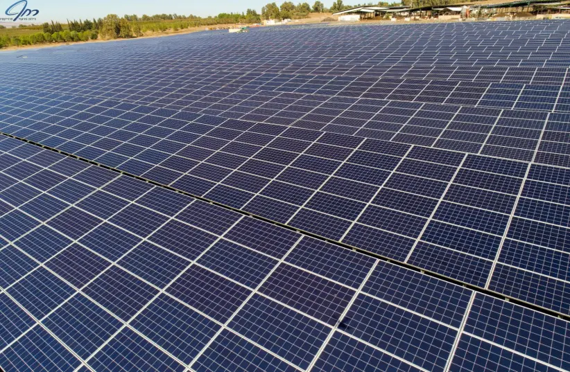 Solar panels at one of the projects of Enlight Renewable Energy (photo credit: RACHAF PRO DRONE)