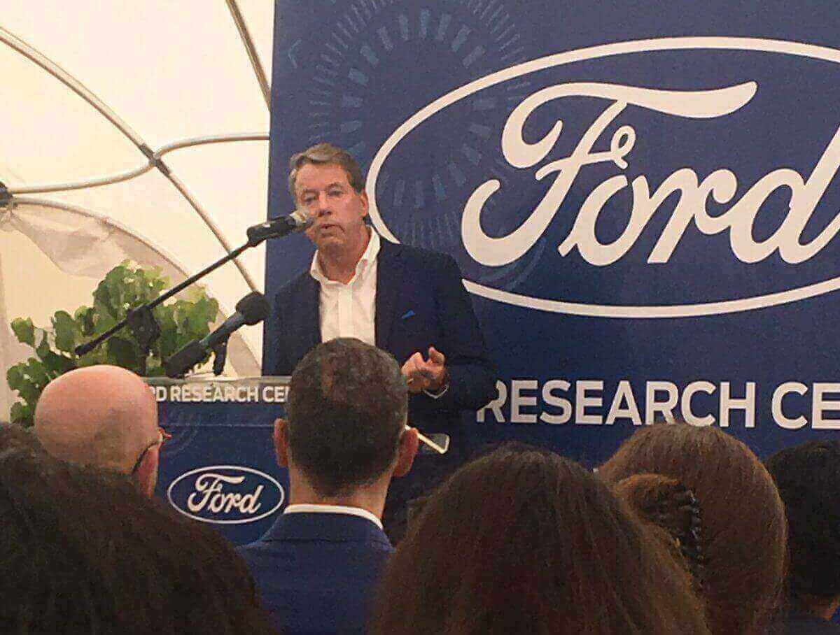 Ford Motor Company Executive Chairman Bill Ford opens the Ford Research Center in Tel Aviv. Photo by Simona Shemer.
