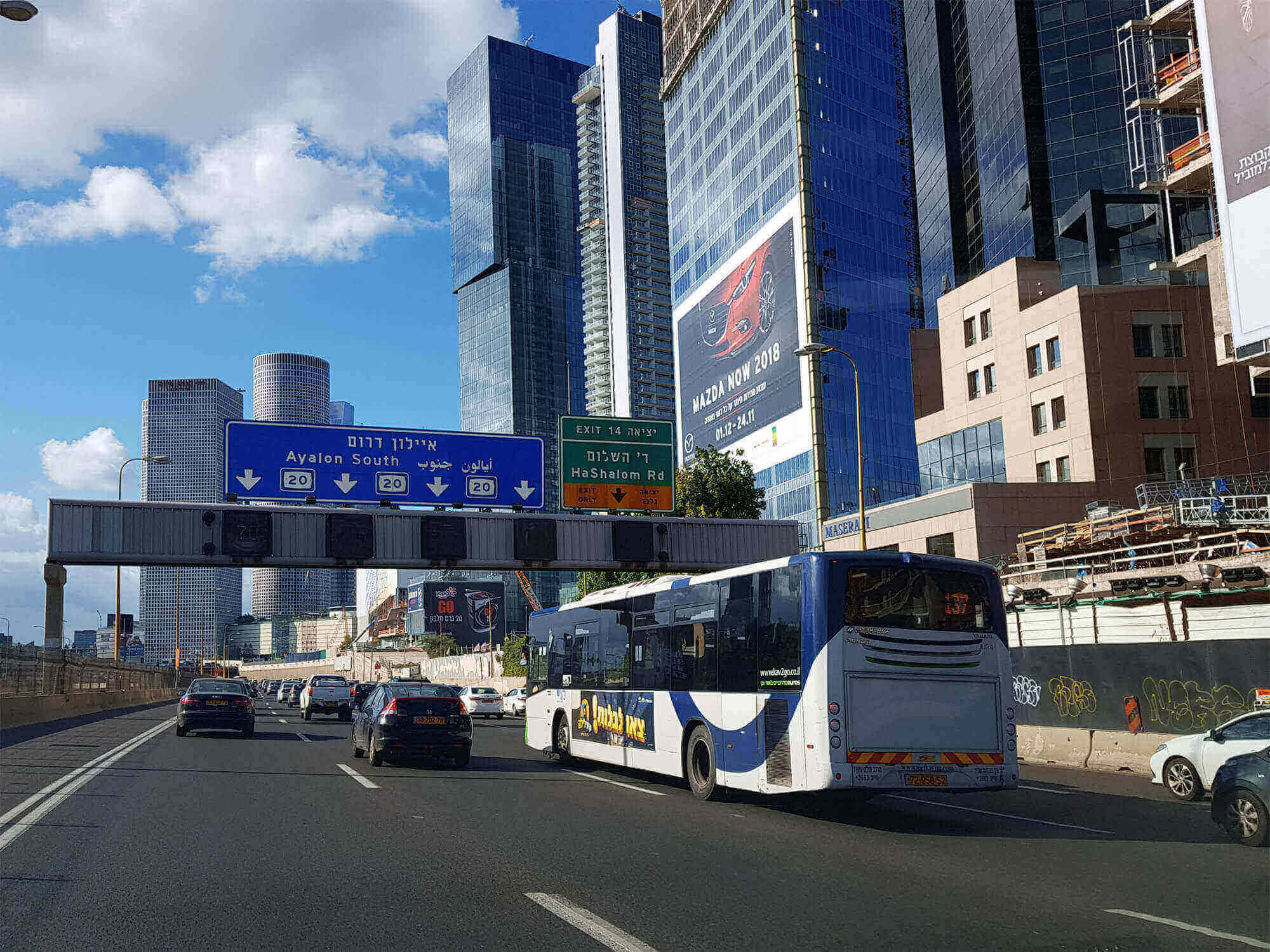 Ayalon highway traffic in Tel Aviv, May 2017. Deposit Photos
