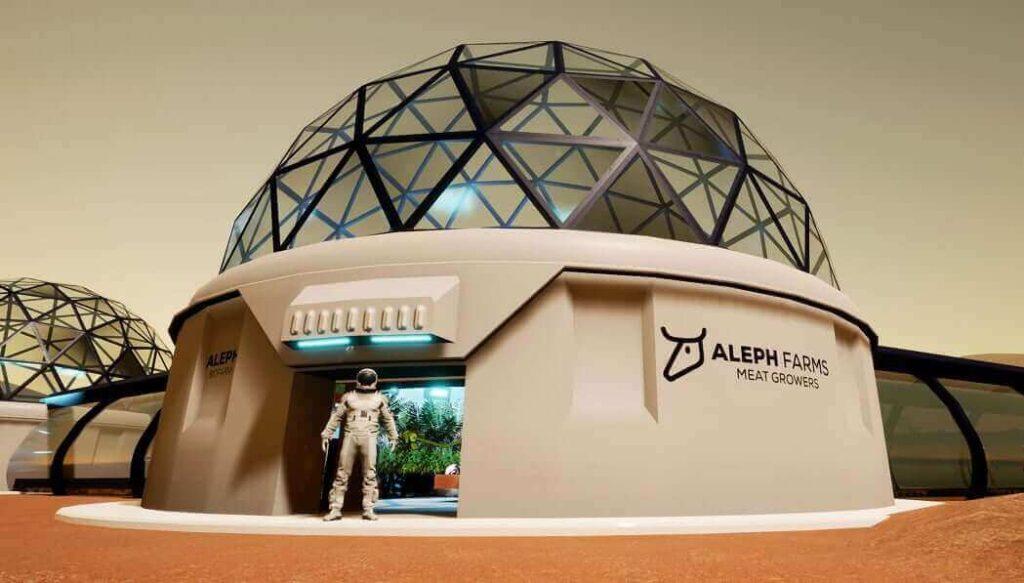 A rendering of Aleph Farms' BioFarm. Courtesy