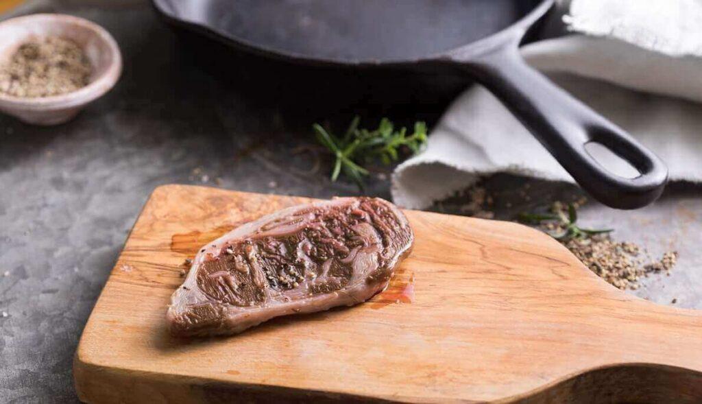 Aleph Farms' cultivated steak. Photo: Aleph Farms