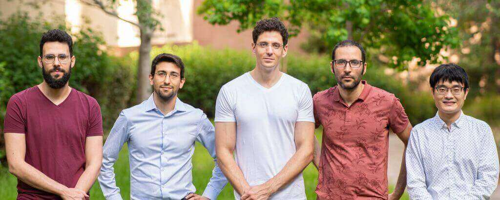 Research team, L-R: Yuval Adiv, Yaniv Kurman, Professor Ido Kaminer, Raphael Dahan and Dr. Kangpeng Wang